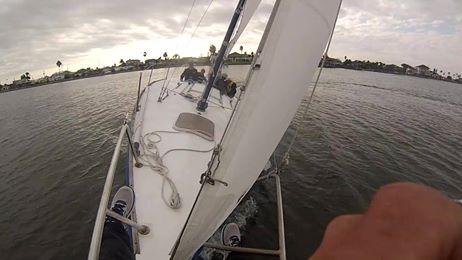 Sailing in Galveston Texas