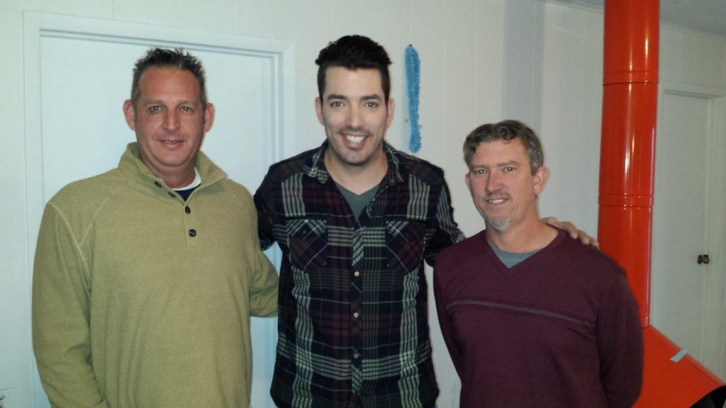 "Local contractor Chris Arneson with Jonathan Scott of HGTV's ""Brother vs Brother"""