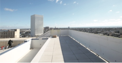 Rooftop pool at the 12-story United States National Bank Building, 2201 Market St. in Galveston